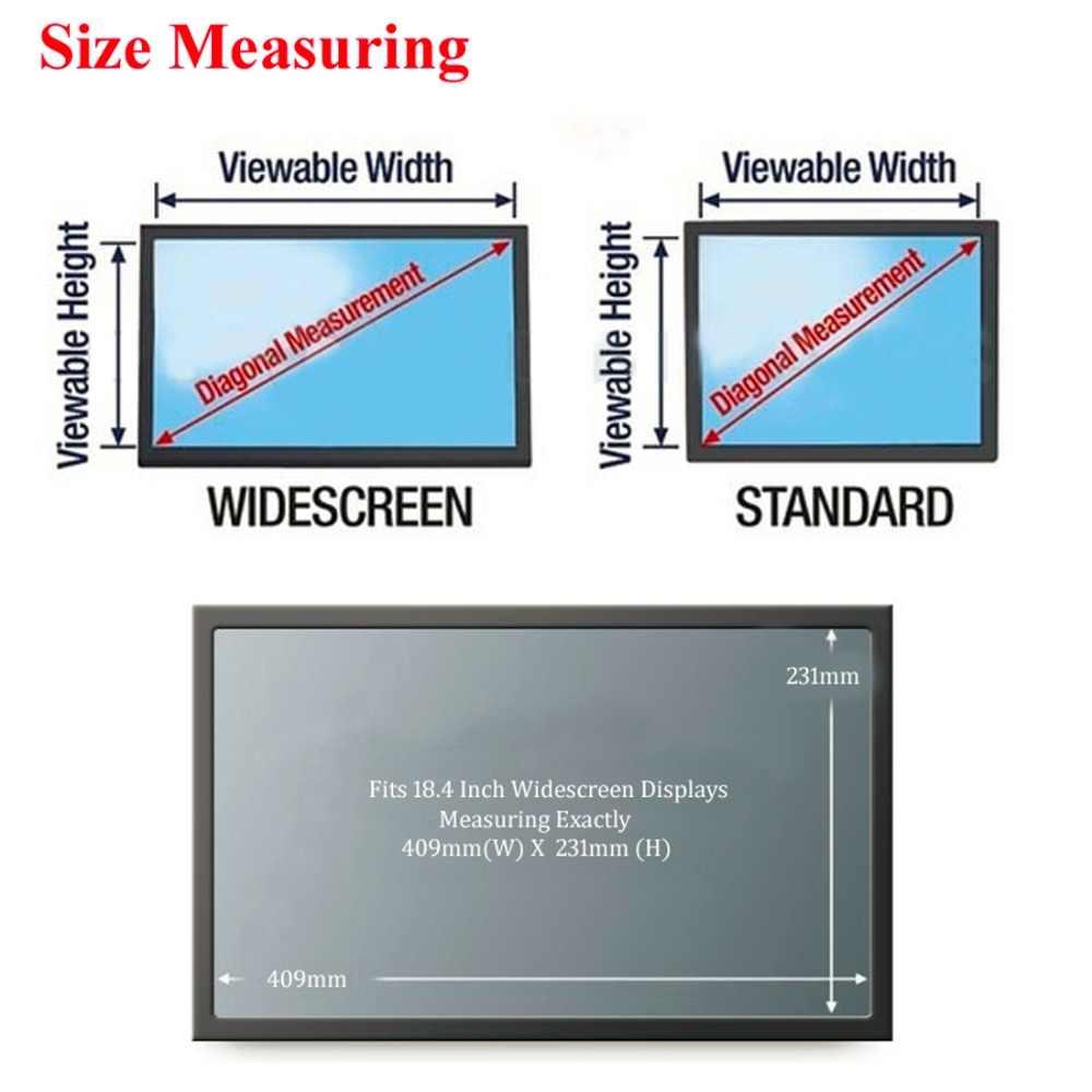 18.4 インチワイドスクリーンプライバシープロテクターフィルムデスクトップモニター 16:9 比