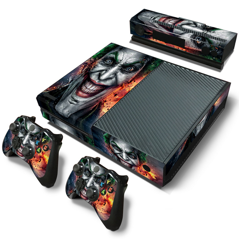 joker style for microsoft xbox one console vinyl sticker decal 2 controller skins sticker for. Black Bedroom Furniture Sets. Home Design Ideas