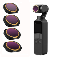 Osmo Pocket Accessories ,4 Pack ND8/PL, ND16/PL, ND32/PL, ND64/PL Camera Lens Filters Compatible with DJI Osmo Pocket