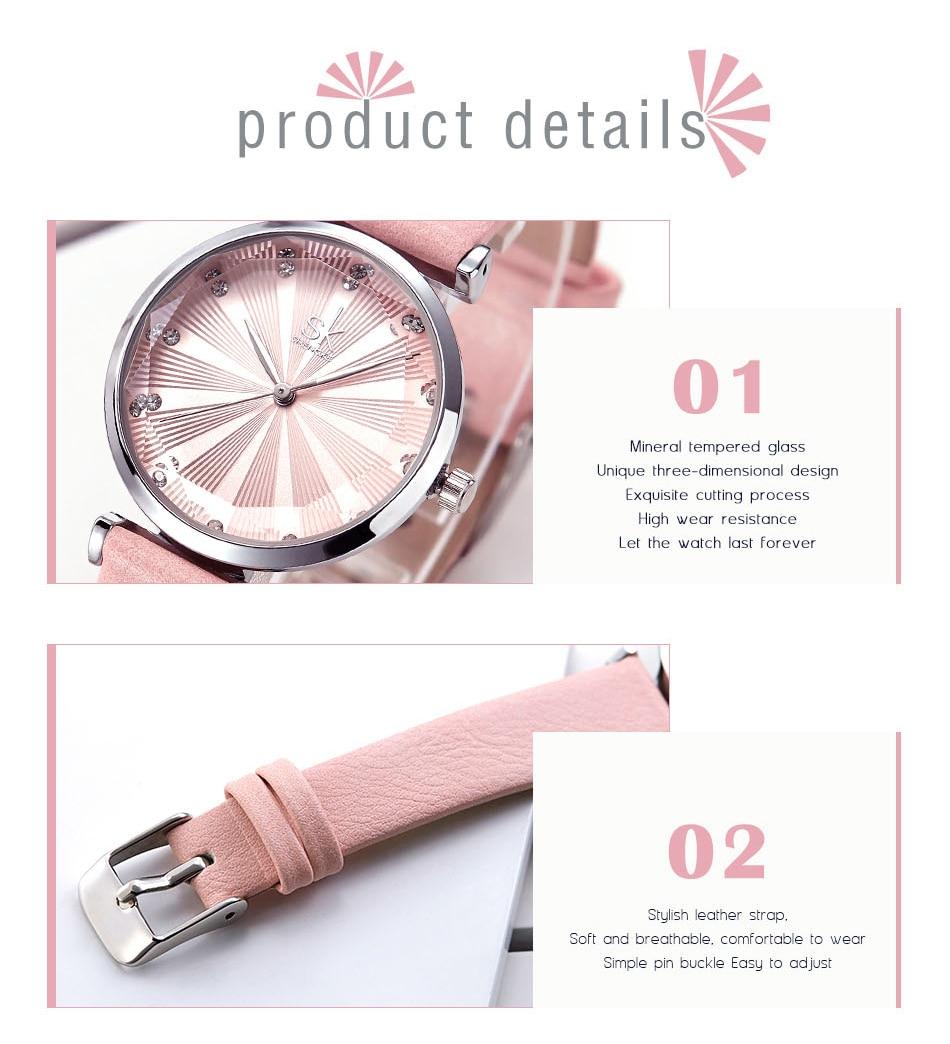 SK Luxury Brand Leather Ladies Wrist Watches Women Prism Quartz Watch For SHENGKE Female Clock reloj mujer 2019 relogio feminino (9)