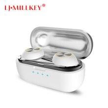 True Wireless Earphones Hifi Bluetooth Earphones TWS Stereo with Mic Charger Box Earphones LJ-MILLKEY YZ152