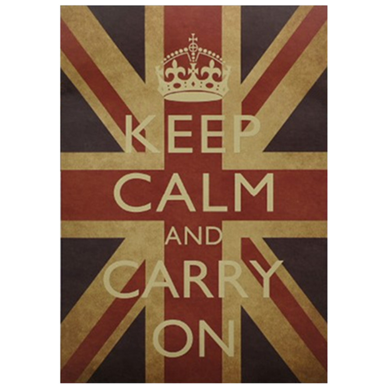 national flag kraft poster keep calm carry on english wall sticker