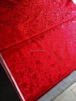 Chinese Silk Brocade Fabric Cheongsam Cushion Grapes Red Pattern