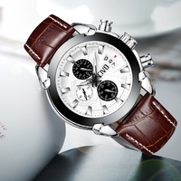 CIVO Teenager Student Quarz Uhr Echtem Leder Uhr Männer Wasserdicht Chronograph Kalender Uhren Für Herren Analog Uhr-in Quarz-Uhren aus Uhren bei