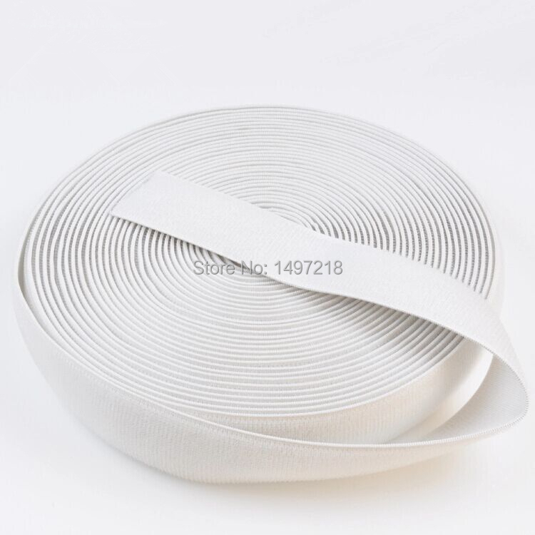 venda quente profissional preto branco 25mm de largura de 20 metros rolo black stretch elastic laco