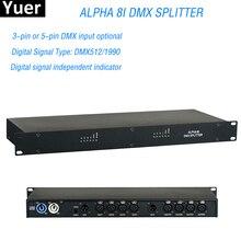 Sahne ışık kontrolörü DMX512 Splitter işık sinyal amplifikatörü Splitter Splitter 8I DMX distribütör disko için DJ ekipmanları