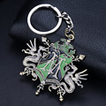 10PCS/Lot Harry Potter Hogwarts classical Europe key symbol Keychain