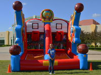 Amusement park toys giant Inflatable shooting goal for sport games for adult and kids