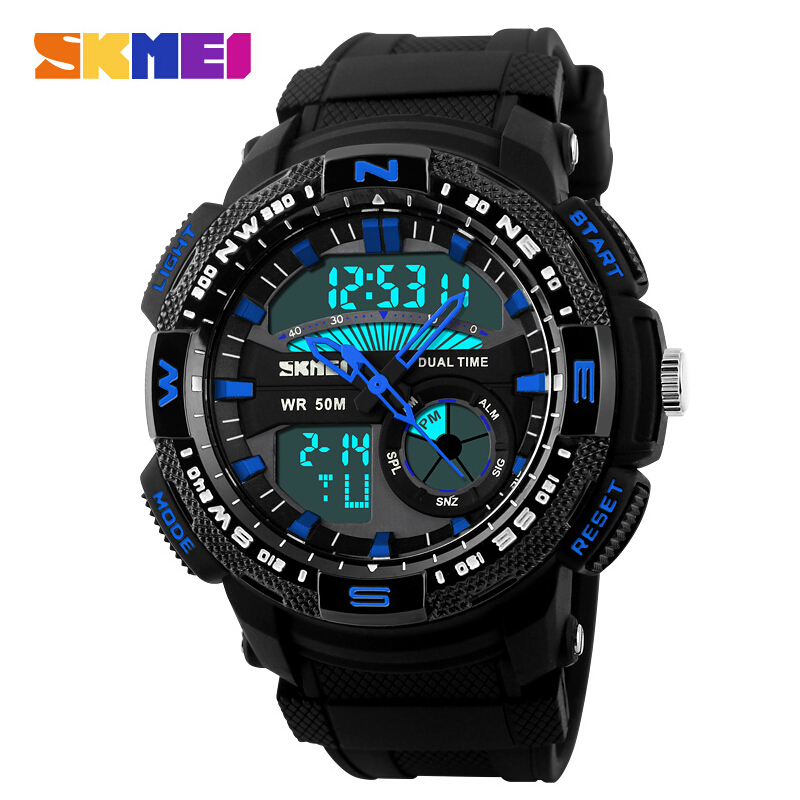 SKMEI Luxury Casual Brand Men Military Sports Watches Digital LED Quartz Wristwatches Waterproof Rubber Strap relogio masculino