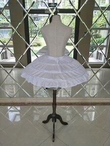 Image 5 - Enagua enagua para Vestido corto de boda, falda de Ballet para niñas, elástico ajustable, 3 aros, color blanco