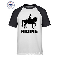 2017 Funny Hip Hop Printed Funny Horse Riding Funny T Shirt For Men