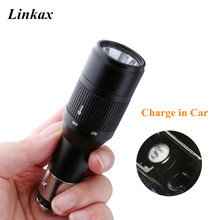 Portable Rechargeable Mini LED Torch Flashlight Car Chargeab