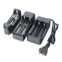 GTF New EU/US li-ion battery charger 3.7V 18650 16340 14500 Li-ion Rechargeable Battery charger