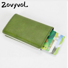 2019 new Credit Card Case for Men Women Business Holder PU Leather Cards Purse Automatic Wallet