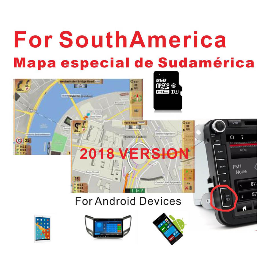 Orderly Gps Map 2018 For Southamerica Brazil/chile/peru/argentina/colombia/bolivia Etc With 8g Card Android Device Car Navigation 2019 Official