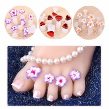 8pcs/Set Silicone Toe Separator Daisy Flower Sunflower Waterdrop Design DIY Foots Nail Art for Salon Use