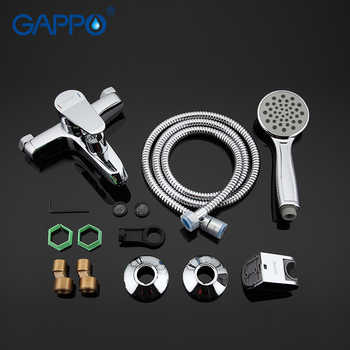 GAPPO TOP Quality Wall-mount bathroom sink faucet torneira with long spout single handle bathtub mixer in handshow GA3236