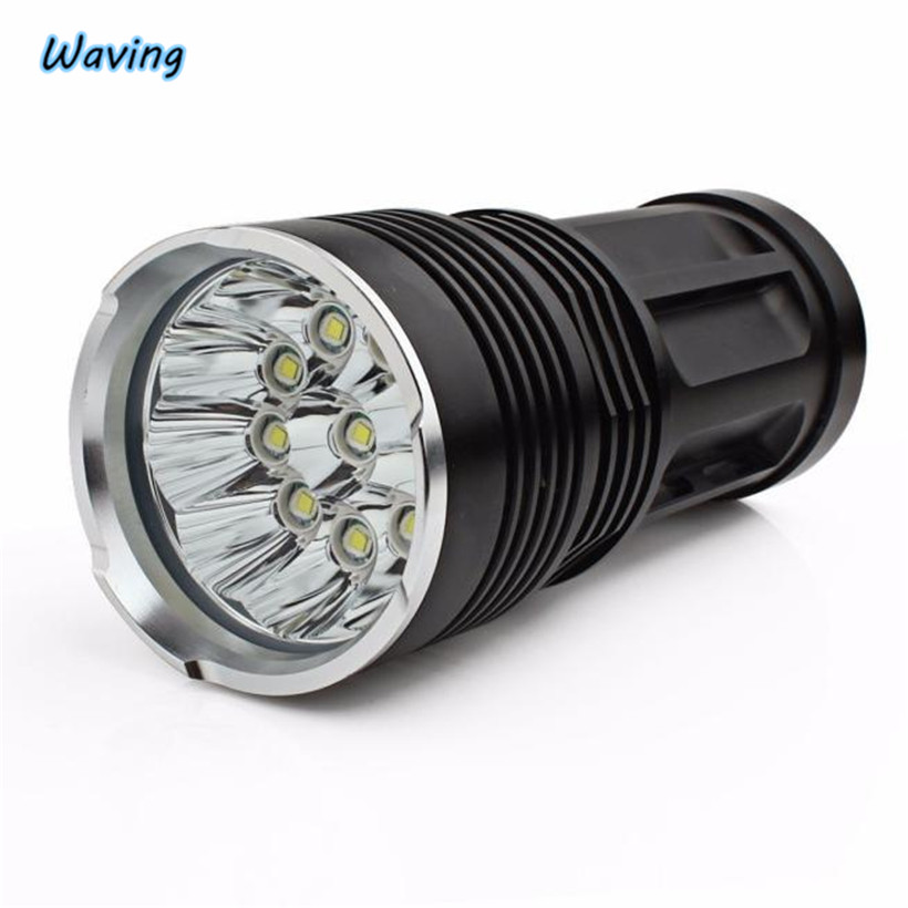 Bicycle Light Flashlight on Bicycle 24000Lumens Tactical Flashlight LED High Power Torch AAA Lamp Bicycle Accessories