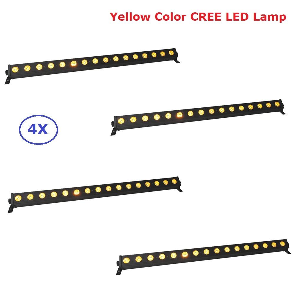Новые 16X3 Вт желтый Цвет CREE светодиодный светильник настенный, с омывающим светом светодиодный шайба пейзажные лампы DMX512 Крытый Светодиодны