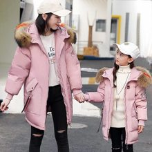 55a875274 Ropa de abrigo y abrigos chaqueta de invierno para Niñas Ropa de nieve  niños coreanos niños y madre familia ropa a juego abajo p.