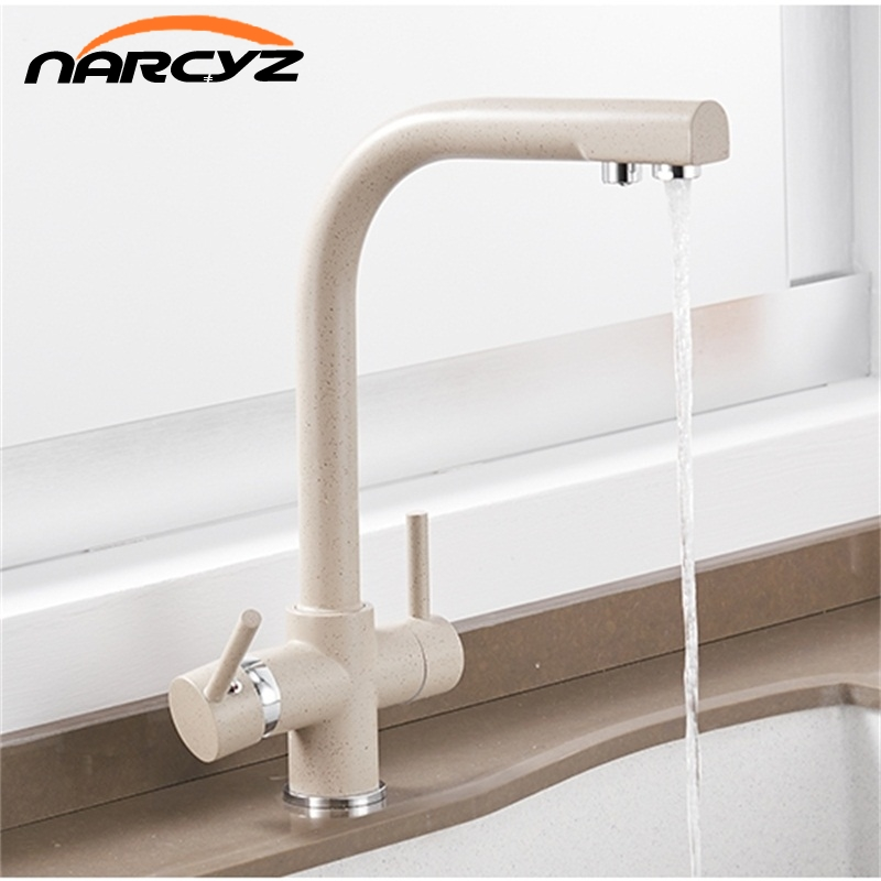 Kitchen Faucets Solid Brass Black For Kitchen Deck Mounted Water Filter Tap Three Ways Sink Mixer 3 Way Kitchen Faucet XT-123 цена