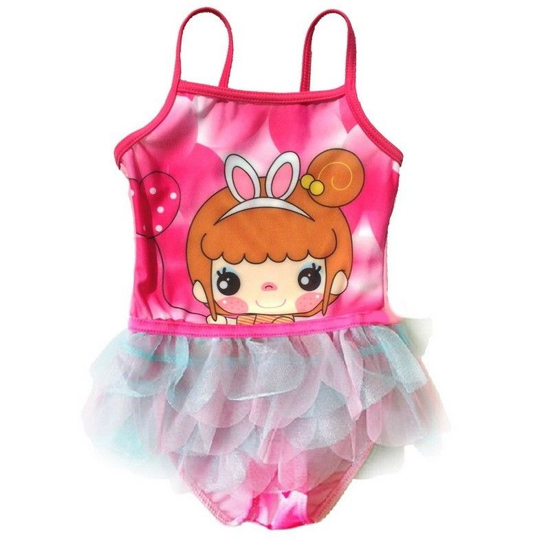 2017 Kids Swimming Suits Bathing Suit One Piece Cute Baby Girls Swimsuit Toddler Girl Swimwear Children Beachwear Swim Dress 1 8 years old kids swimsuit for girls lovely yellow duck bathing suit children swimsuit princess one piece swimwear swimming cap