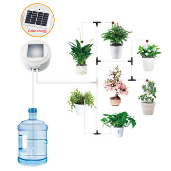 Intelligent Garden Automatic Watering Device Solar Energy Charging Water Pump Timer System  Succulents Plant Drip Irrigation