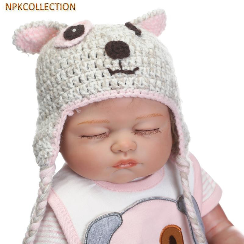 NPKCOLLECTION 18 Inch 45CM Silicone Reborn Dolls Babies Real Sleeping Reborn Baby Bonecas Children Toys Brinquedos Real Dolls hot sale toys 45cm pelucia hello kitty dolls toys for children girl gift baby toys plush classic toys brinquedos valentine gifts