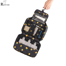 RUPUTIN Hanging Travel Cosmetic Storage Bags Women Zipper Make Up Bag High Capacity Makeup Case Handbag Organizer Wash Bath Bags недорого