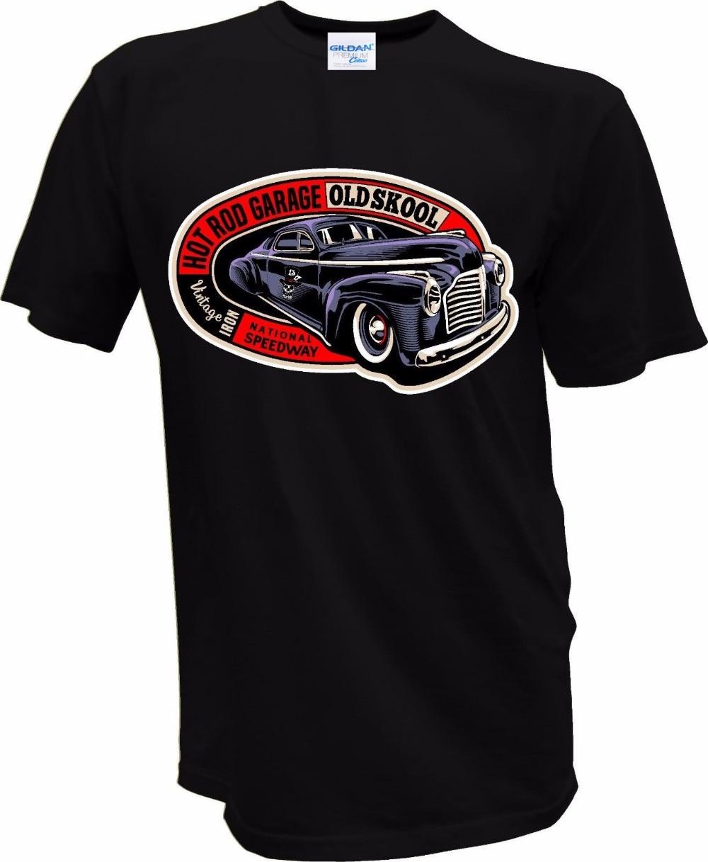 Design t shirt online usa - 2017 Casual Outwears Popular Design 100 Cotton For Man T Shirts Hot Rod V8 Usa Car Garage Hellrider Biker Skull 1338 Tee Shirts