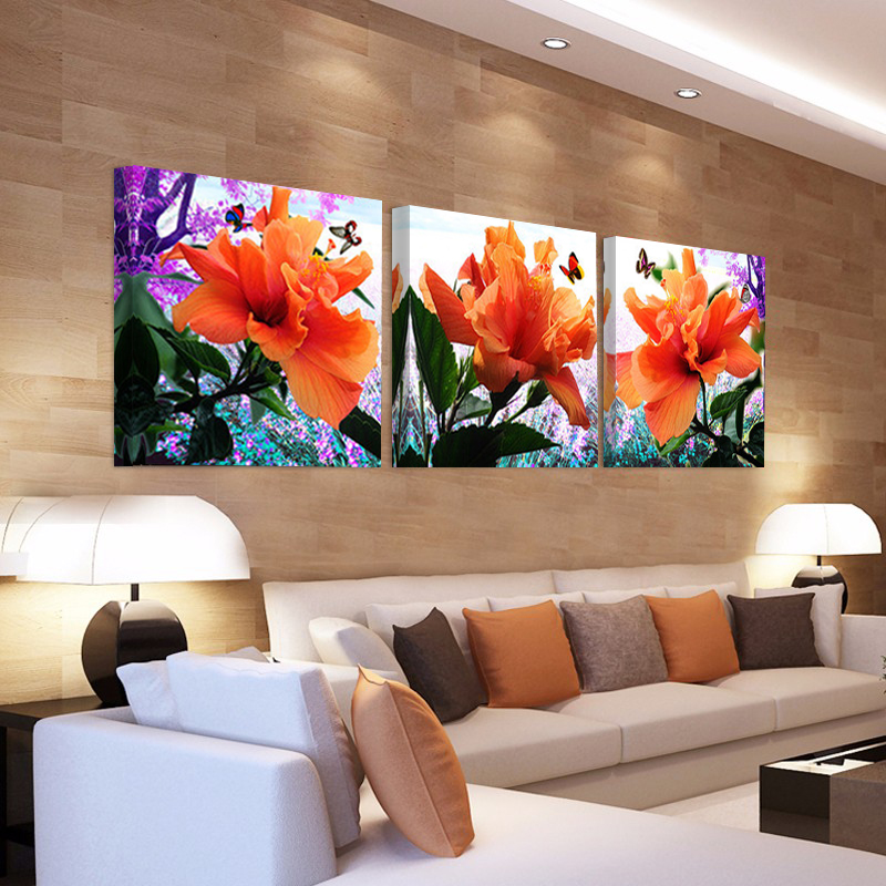 Popular hibiscus flower paintings buy cheap hibiscus for Buy cheap canvas art