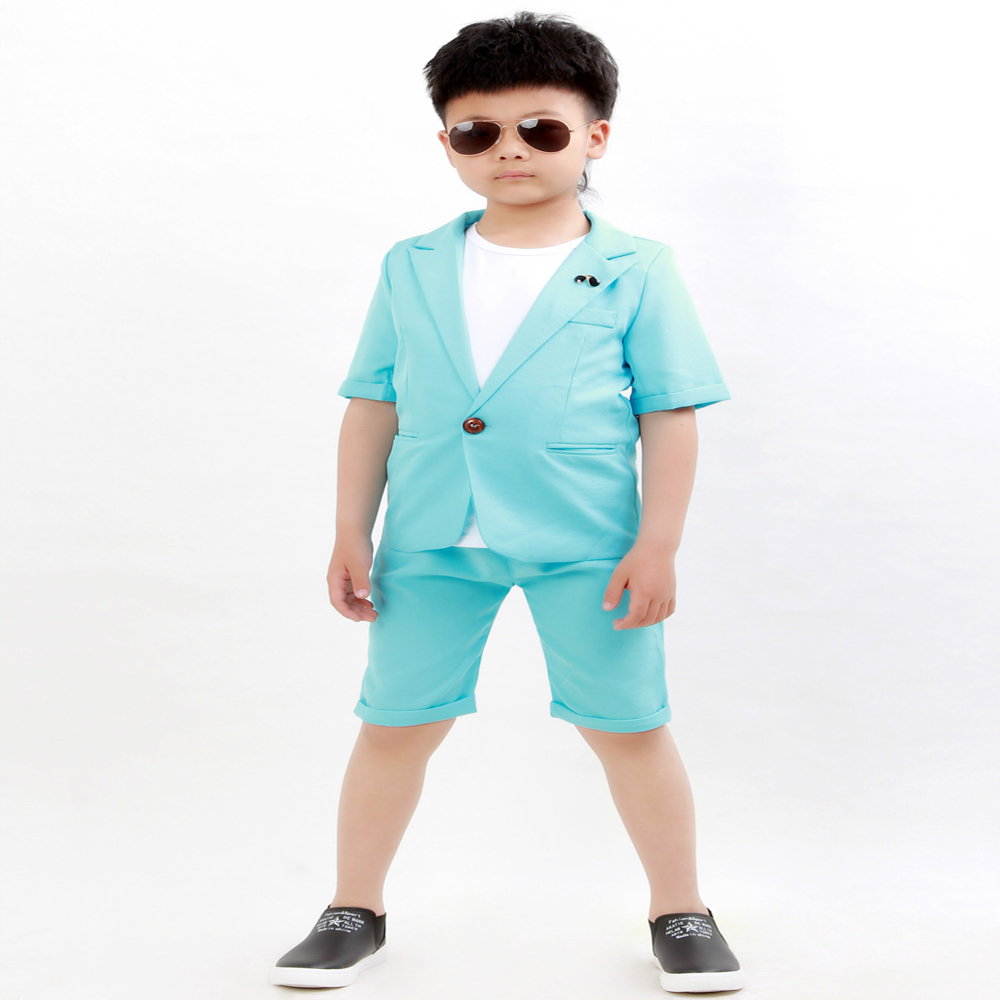 Brand Summer Baby Boys Birthday Dress Formal Suit Jacket Pants ...