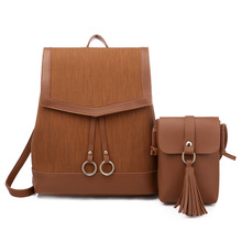 New fashion Mummy bag ladies travel backpack trend pu leather baby pregnant out storage two-piece simple diagonal package