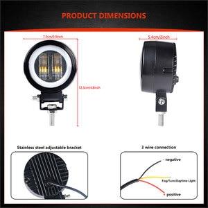 Image 3 - 7D 3 inch Lens LED Work Light Portable Spotlights For Offroad Truck Driving Car Boat Motorcycle UAZ ATV 12V 24V Fog Light
