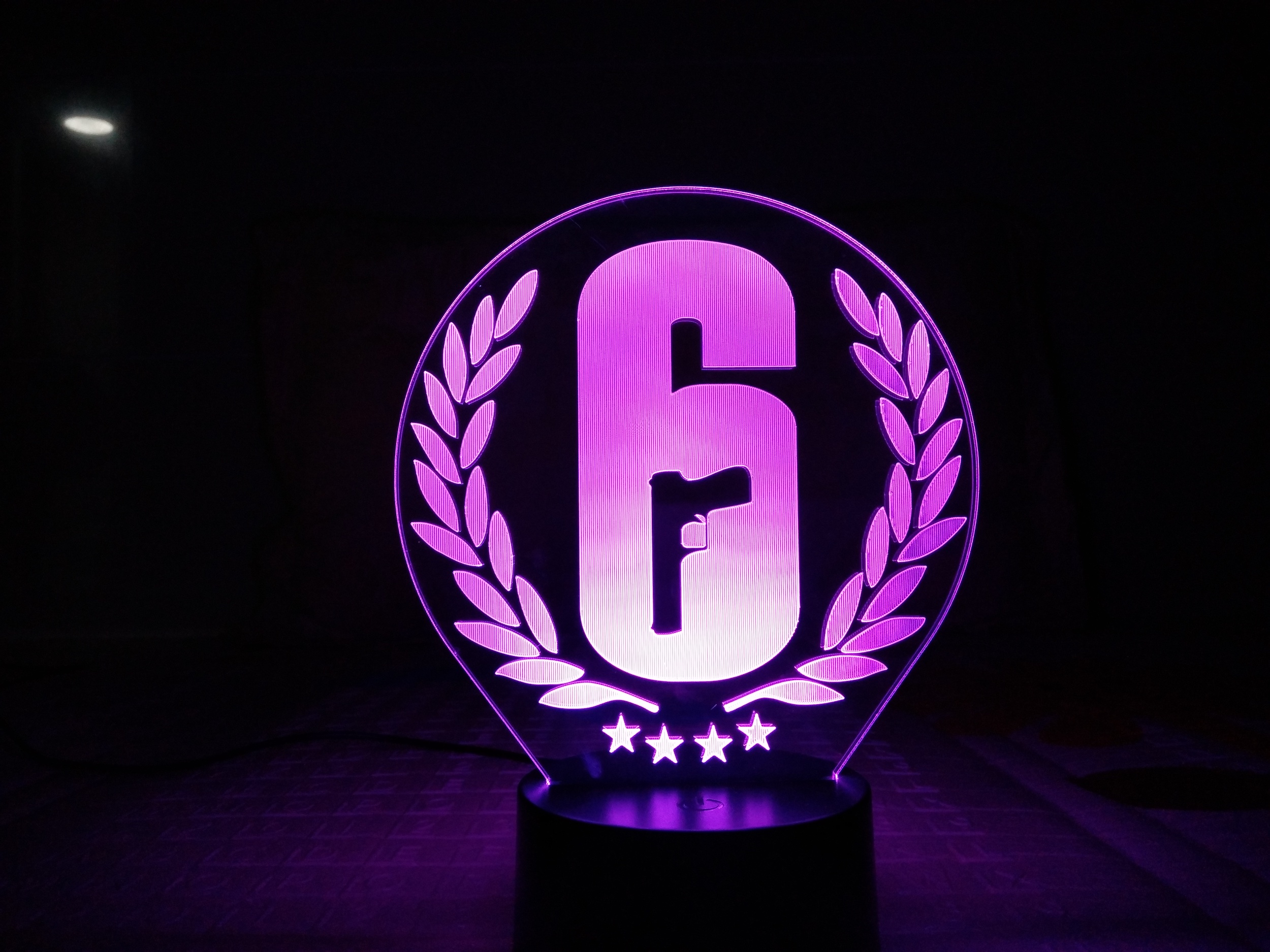 Image 2 - Rainbow Six Siege Night Light LED Touch Sensor 7 Color Changing Child Kids Gift FPS Game Table Lamp Rainbow 6 Logo Bedroom Decor-in LED Night Lights from Lights & Lighting