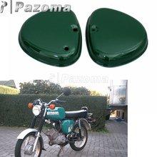 Pazoma バイク鋼グリーンオレンジ 2 サイドカバー左と右サイドプロテクターガード Simson ため S50 S51 S70