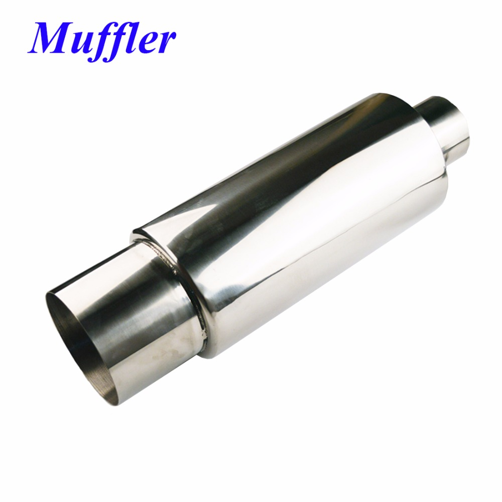 SALBEITECH Car Muffler Body Length 12.5 Body Diameter 6 Inlet 2.5/3 Outlet 4/5 Auto Exhaust Tail Pipe