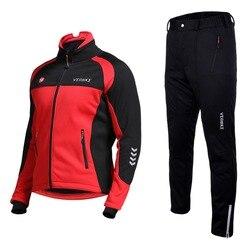 Men Waterproof Wind Coat Long Sleeve Cycling Set 2018 Pro Team Mtb Bike Clothes Wear Winter Fleece Motorcycle Jacket Windproof