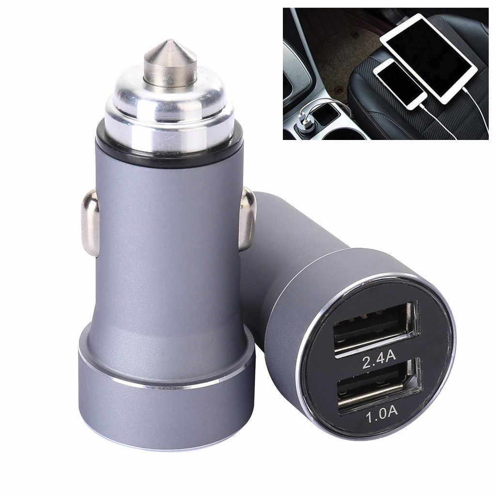 شاحن سيارة 5 فولت/2.4A/1A تهمة سريعة المزدوج USB مهايئ منفذ الجهد للهاتف bmw e87 e83 e82 e70 e65 e61 e60 e53 e46 samsumg
