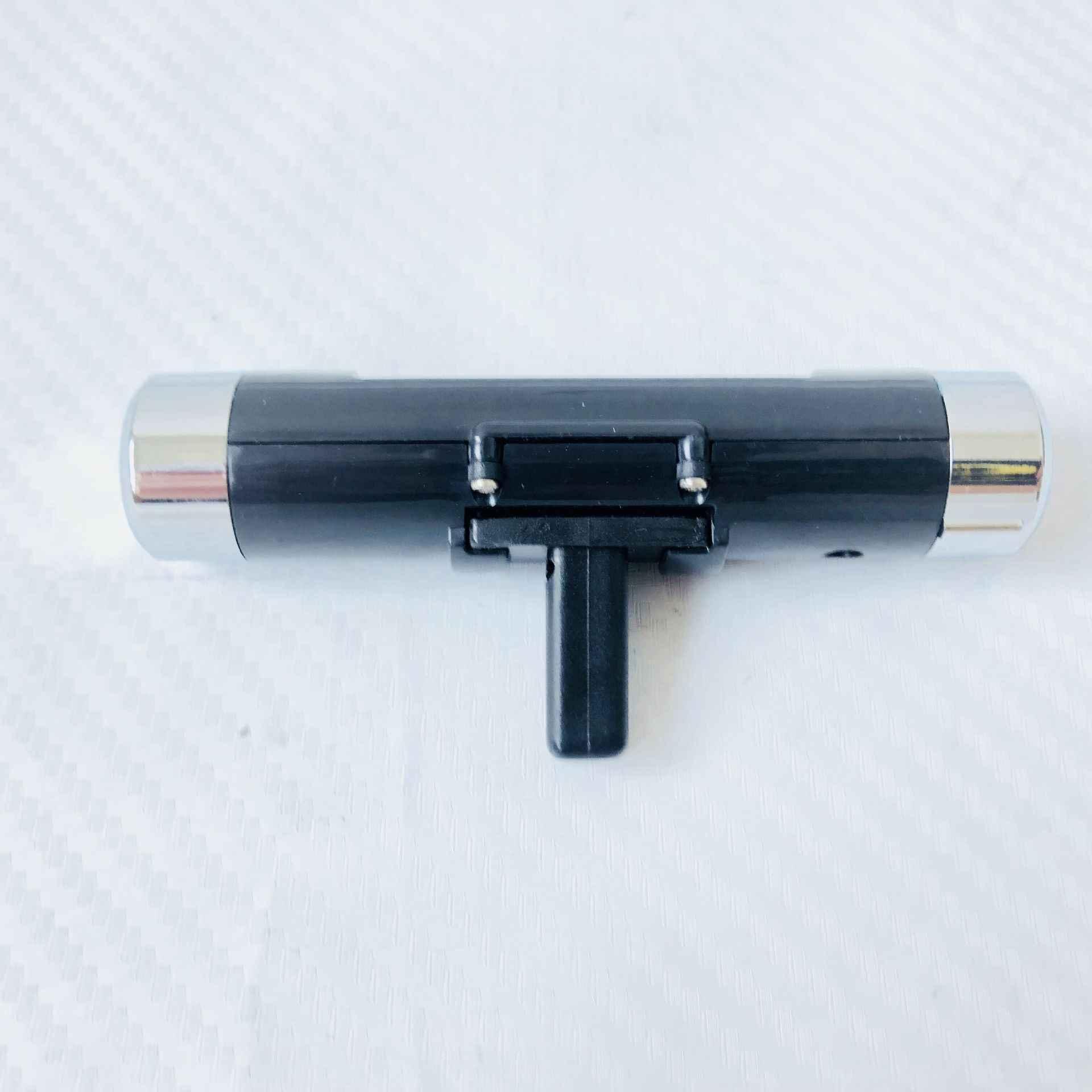 K01 2in1 coche Auto LCD Clip-on Digital temperatura termómetro reloj calendario automotriz azul retroiluminación reloj