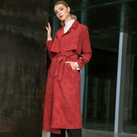 Red Women Trench Coat