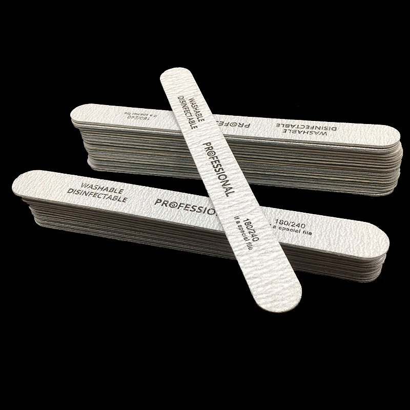 New 100 Pcs/Lot High Quality Wood Nail Files 180/240 Disposable Cuticle Remover Callus Nail Art Styling Tools New Design Sanding