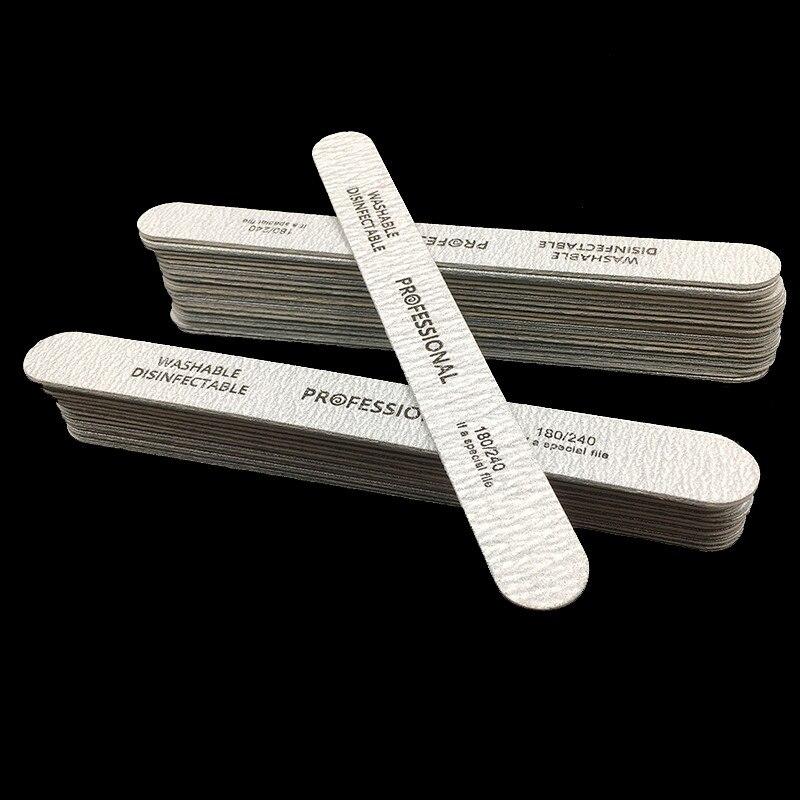 novo 100 pcs lote arquivos de unhas de madeira alta qualidade 180 240 removedor cuticula descartavel
