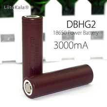 LiitoKala  2 pcs new original  HG2 18650 3000mAh battery for LG 18650HG2 3.6v The discharge 20a  Dedicated electronic  battery