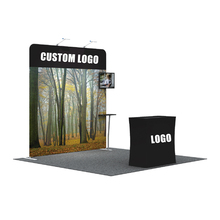 Portable 10ft tension fabric backdrop pipe and drape for wedding for exhibition booth or advertising