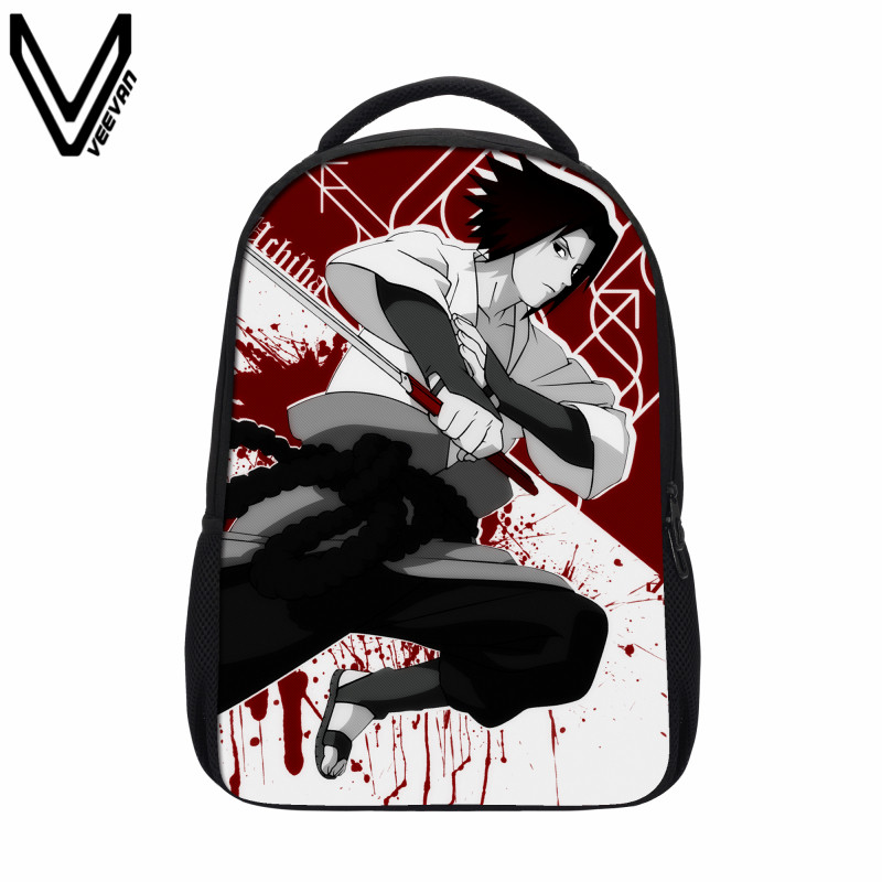 VEEVANV 2017 Naruto font b Backpack b font Japan Anime Printing School Bag For Teenagers 3D