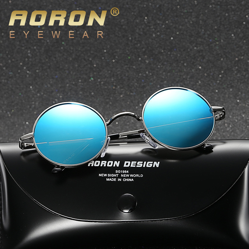 4b2869ee271 Cat eyes Classic Polarized Round Sunglasses Men Small Vintage Retro Mirror  Glasses Women Alloy Frame Eyewear Brand-in Sunglasses from Apparel  Accessories on ...