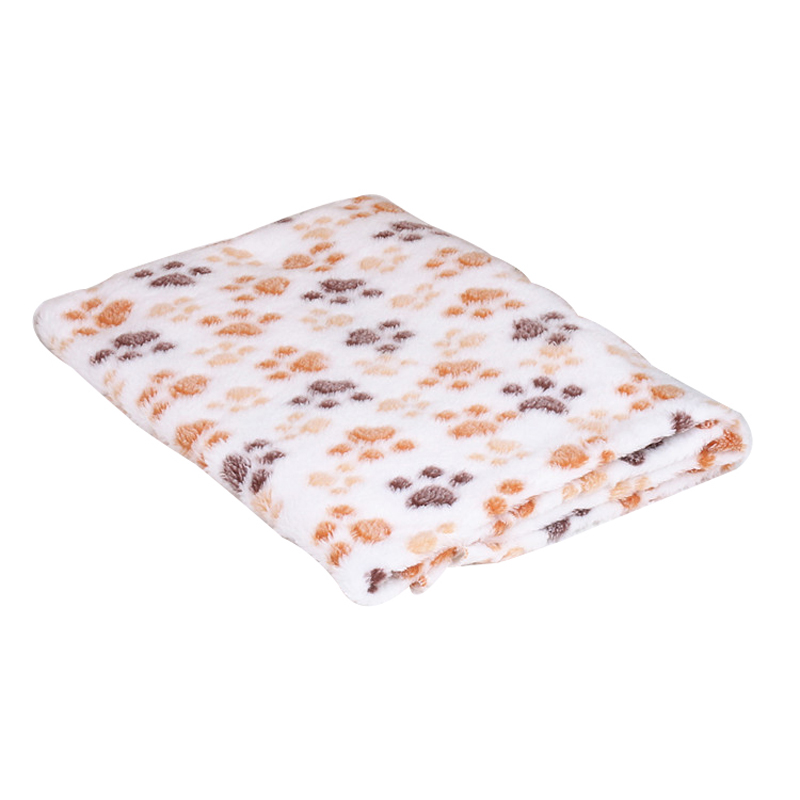 Pawstrip Soft Coral Fleece Pet Dog Blanket Winter Small Dog Bed Paw - Productos animales - foto 5
