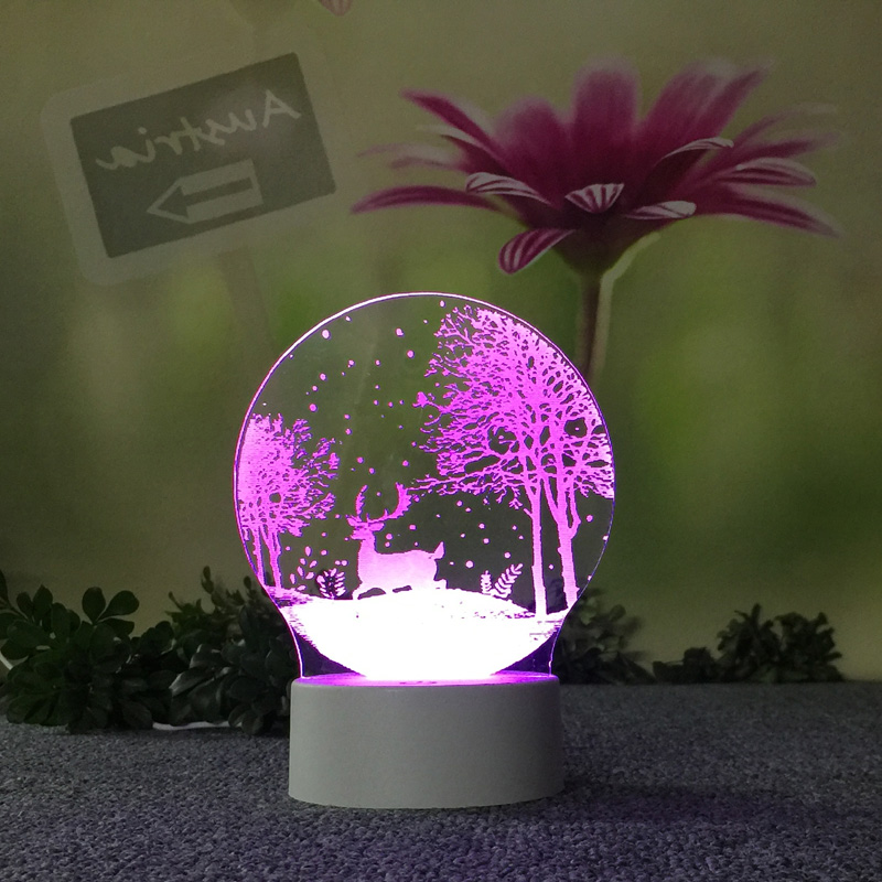 3d Table Lamps For Living Room Lovely 7 Color Change 3d Lamp Christmas Decorations Gift For Baby Room Lights Wholesale