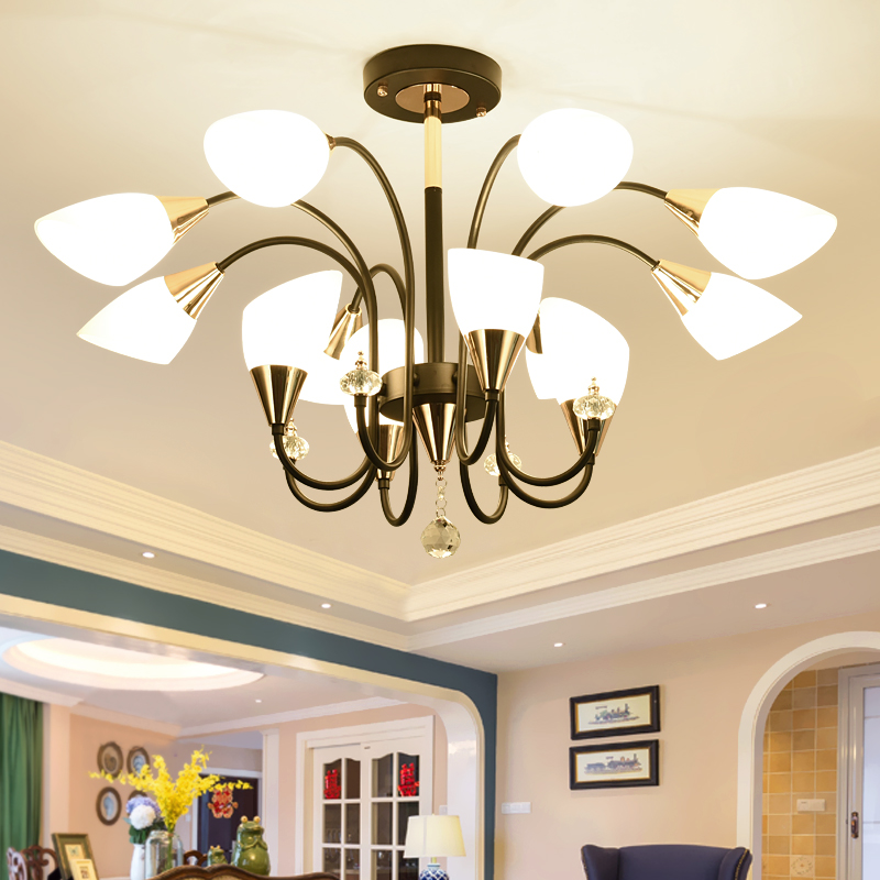 Multiple Chandelier living room LED ceiling lamp creative personality lamp modern clothing store restaurant lamps ZH ZX46 vintage clothing store personalized art chandelier chandelier edison the heavenly maids scatter blossoms tiny cages